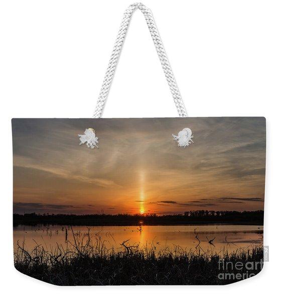Sun Pillar Weekender Tote Bag