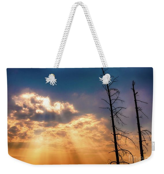 Weekender Tote Bag featuring the photograph Sunbeams by Dheeraj Mutha