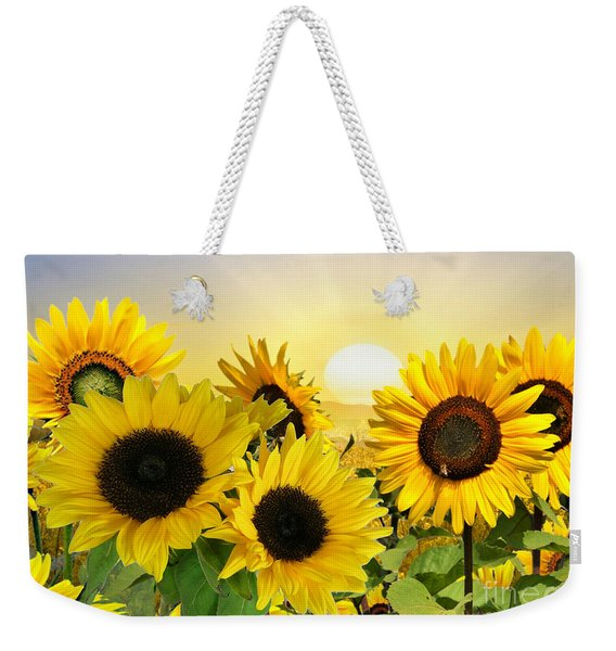Sunflowers And Sunshine Weekender Tote Bag