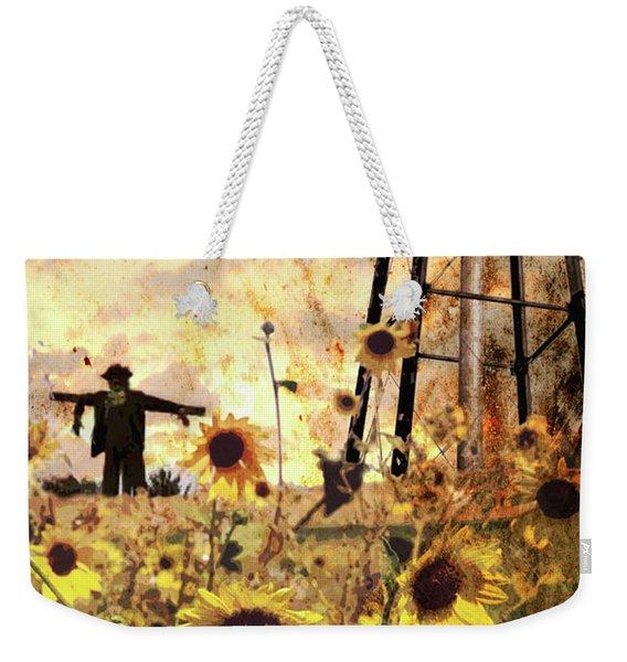 Sunflowers At Dusk Weekender Tote Bag
