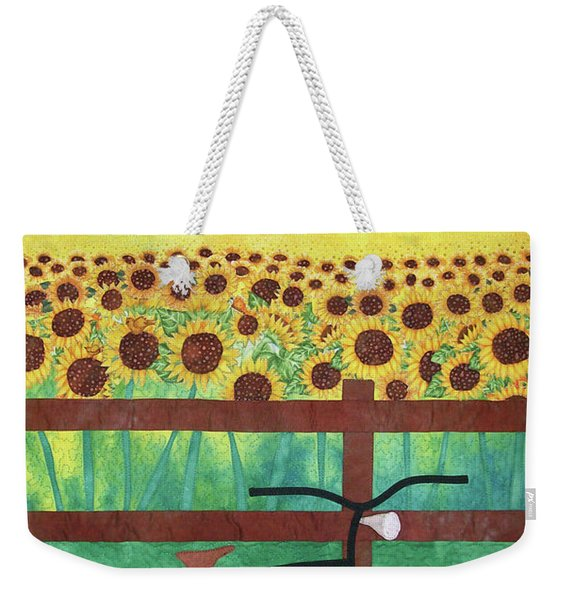 Sunflowers At Whitehall Farm Weekender Tote Bag