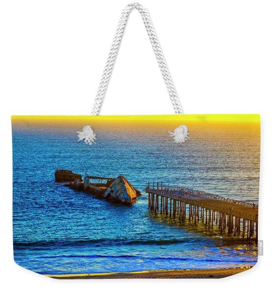 Sunken Ship Pacific Ocean Weekender Tote Bag