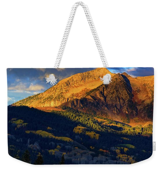 Sunlight Along The Mountain Weekender Tote Bag