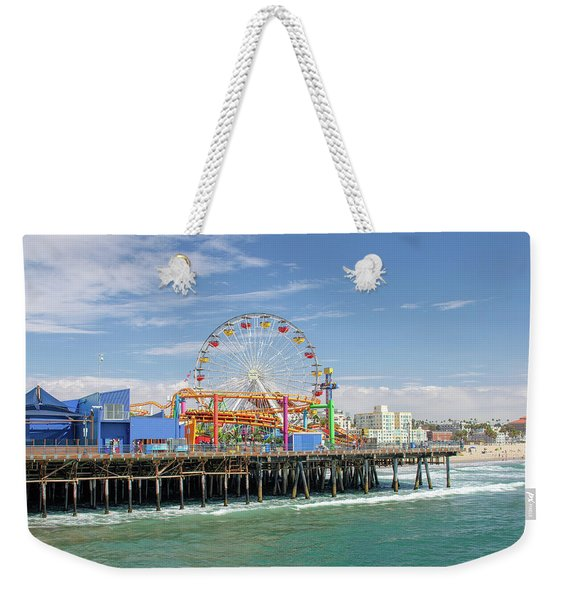 Sunny Day On The Santa Monica Pier Weekender Tote Bag