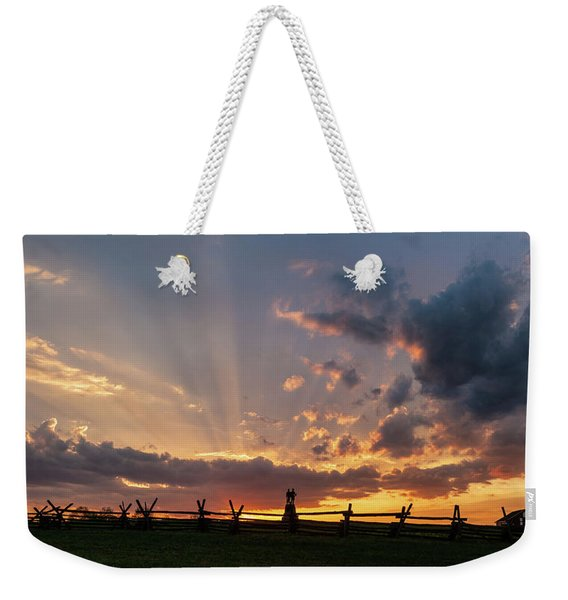 Sunrays At Sunset Weekender Tote Bag