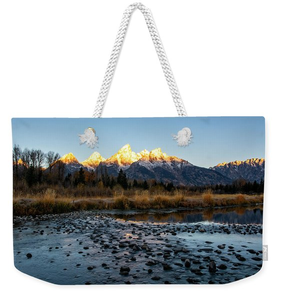 Sunrise At Schwabacher Landing Weekender Tote Bag