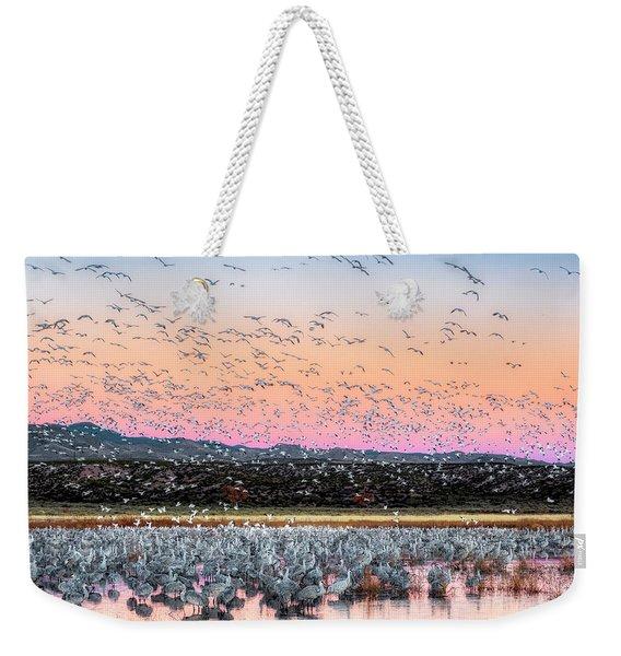Sunrise At The Crane Pool Weekender Tote Bag