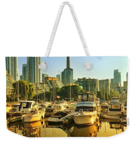Sunrise At The Harbour Weekender Tote Bag