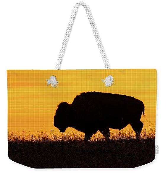 Sunrise Bison Weekender Tote Bag