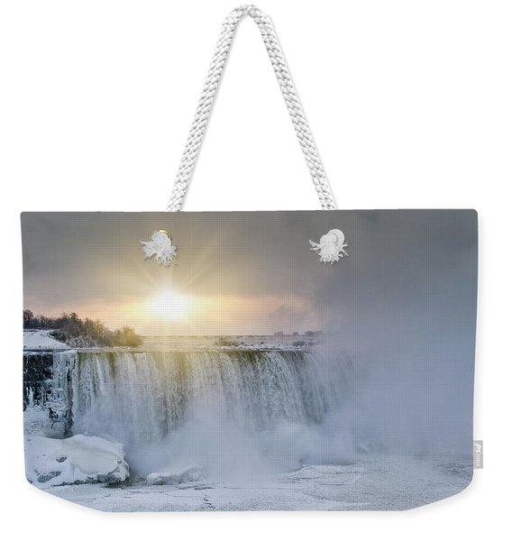 Sunrise In Niagara Falls Weekender Tote Bag
