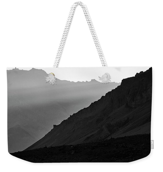 Weekender Tote Bag featuring the photograph Sunrise In The Himalayas by Whitney Goodey