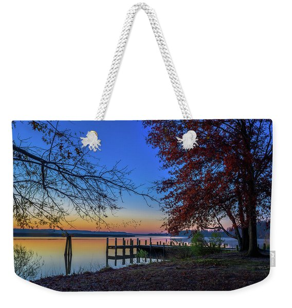 Sunrise On The Patuxent Weekender Tote Bag
