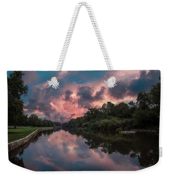 Sunrise On The River Weekender Tote Bag