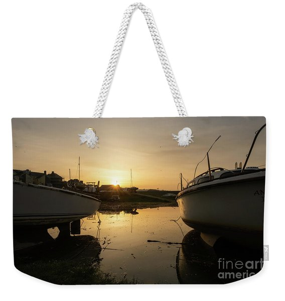 Sunrise Over Aberystwyht Harbour Weekender Tote Bag