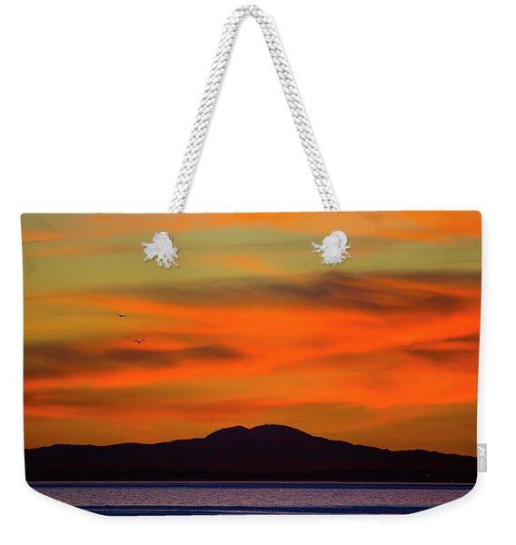 Sunrise Over Santa Monica Bay Weekender Tote Bag