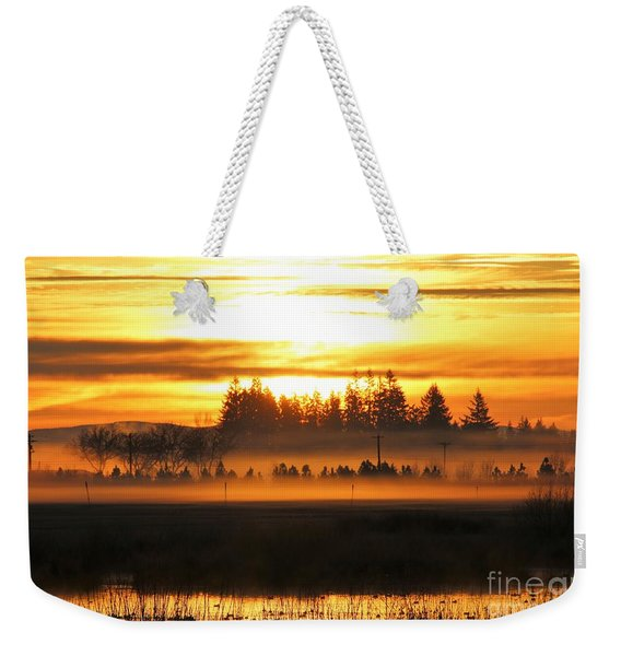 Sunrise Over The Wetlands Weekender Tote Bag