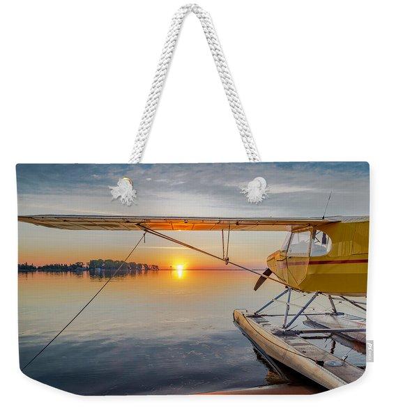 Sunrise Seaplane Weekender Tote Bag