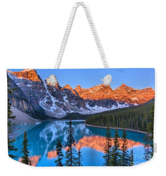 Sunrise Spectacular At Moraine Lake 2019 Weekender Tote Bag