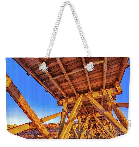 Sunrise Under The Sea Cabin Pier  Weekender Tote Bag