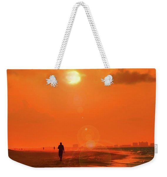 Sunrise Walk On Sanibel Island Weekender Tote Bag