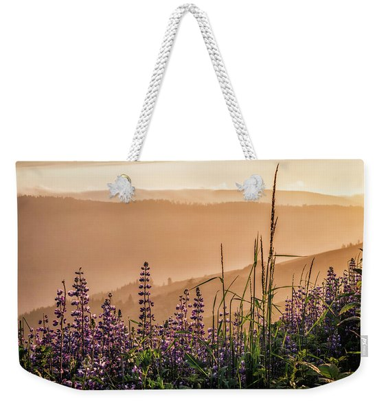 Sunset Among The Lupine Weekender Tote Bag