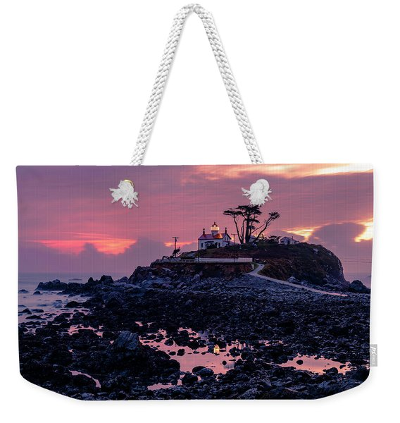 Sunset And Low Tide At Battery Point Weekender Tote Bag