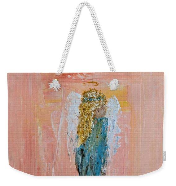 Sunset Angel Weekender Tote Bag