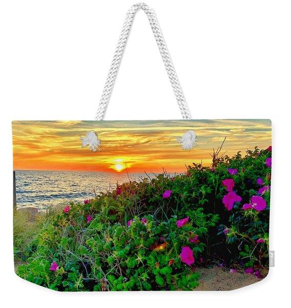 Sunset At Campground Beach  Weekender Tote Bag