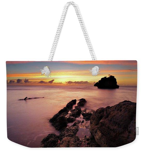 Sunset At Columbus Bay Weekender Tote Bag