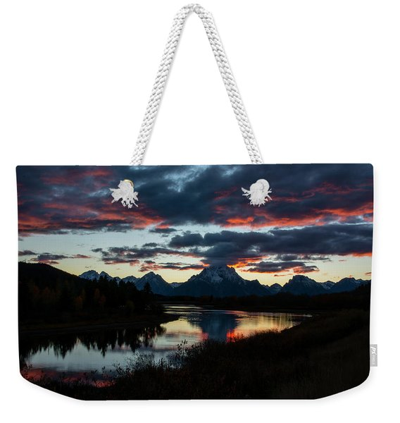 Sunset At Oxbow Bend Weekender Tote Bag