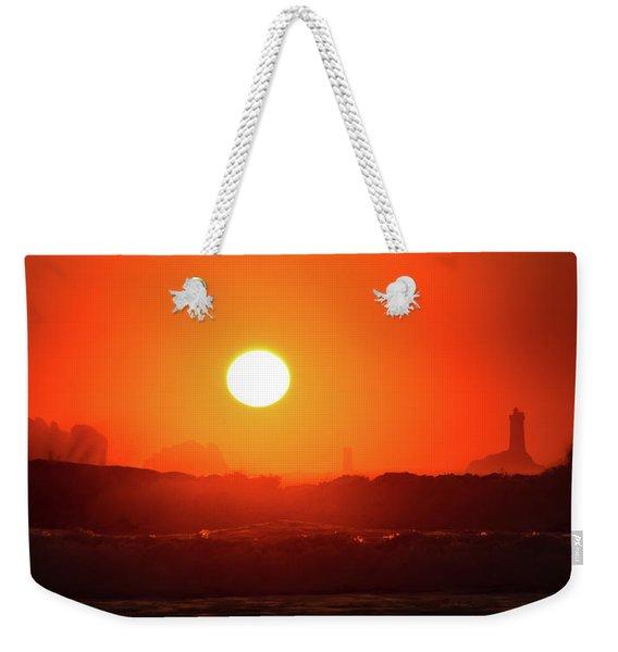 Sunset At Pointe Du Raz Weekender Tote Bag
