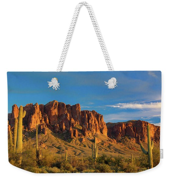 Sunset At Superstition Mountain Weekender Tote Bag