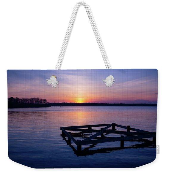 Sunset At The Reservoir  Weekender Tote Bag