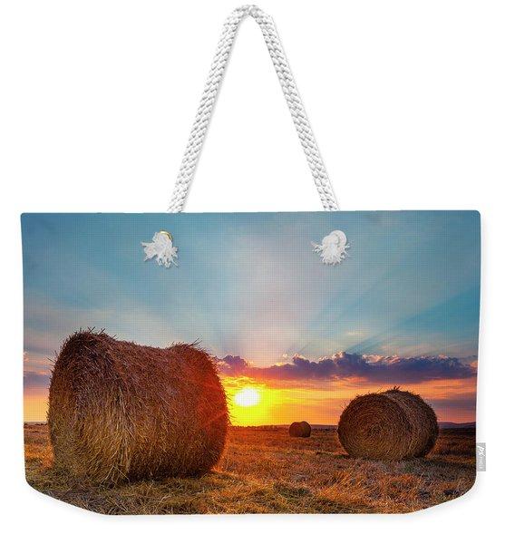 Sunset Bales Weekender Tote Bag