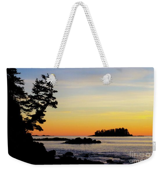 Sunset Beach Vancouver Island Weekender Tote Bag