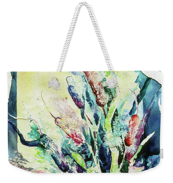 Sunset Cattails Weekender Tote Bag