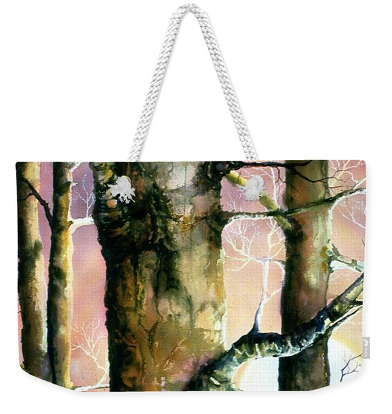 Sunset Forest Weekender Tote Bag