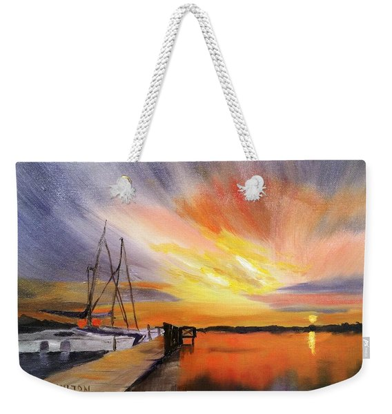 Sunset Harbor Weekender Tote Bag