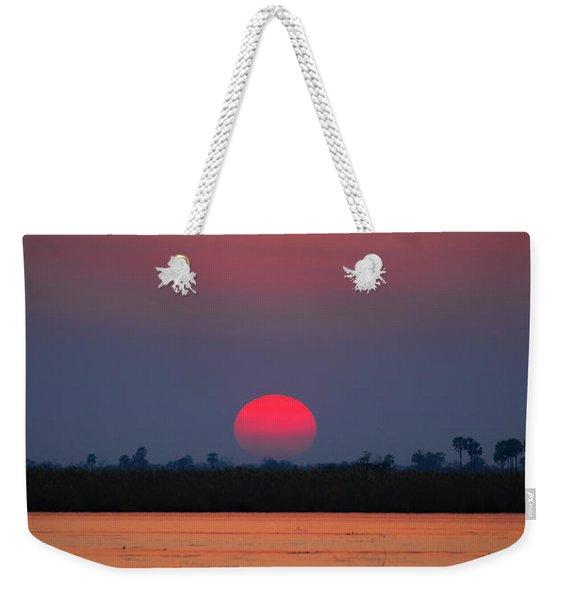 Sunset In Botswana Weekender Tote Bag