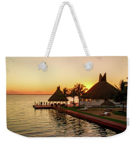 Sunset In Cancun Weekender Tote Bag
