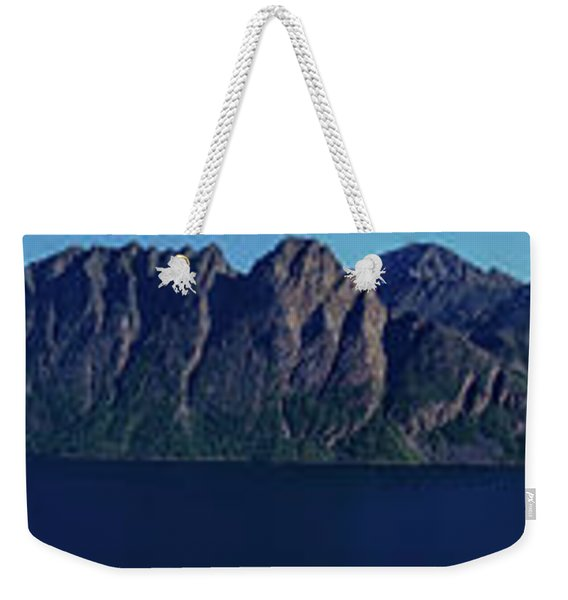 Sunset In Norway In Lofoten Island Weekender Tote Bag
