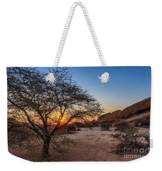 Sunset In Spitzkoppe, Namibia Weekender Tote Bag