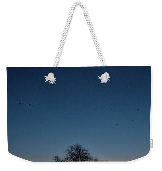 Sunset In The Refuge With Moon Weekender Tote Bag