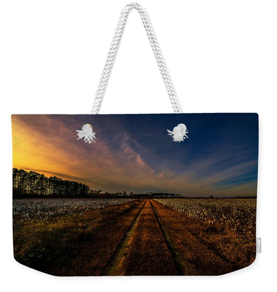 Sunset In The Twin Fields Weekender Tote Bag