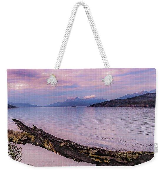 Sunset In Ushuaia Weekender Tote Bag