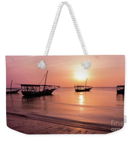 Sunset In Zanzibar Weekender Tote Bag