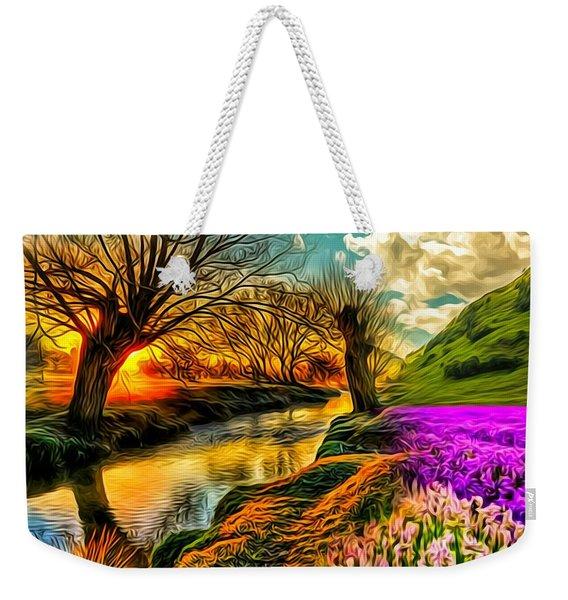 Sunset Landscape Weekender Tote Bag