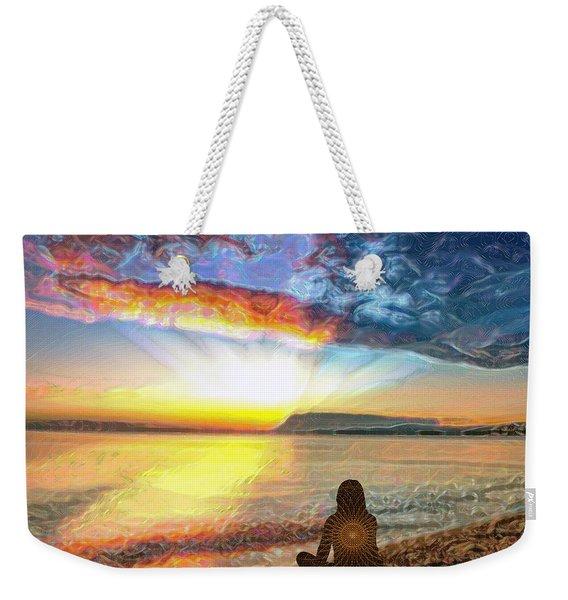 Sunset Meditation Weekender Tote Bag