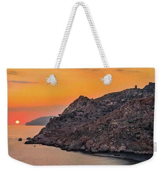 Sunset Near Cape Tainaron Weekender Tote Bag