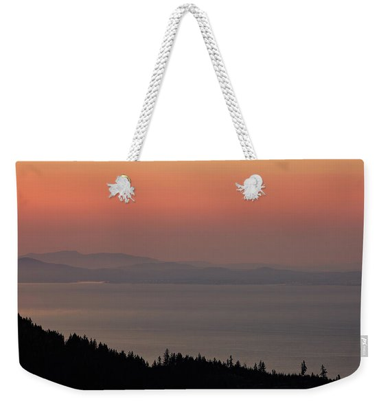 Sunset Of The Olympic Mountains Weekender Tote Bag